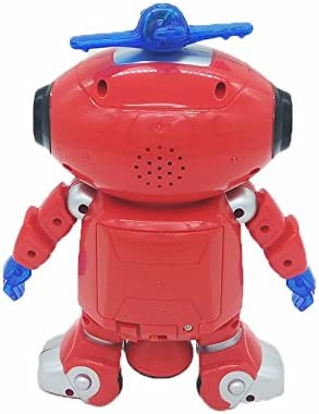 Mallalah Robot Walking Dancing 360 Degree Spinning Toys with Musical and Colorful Flashing Lights Body Spinning Robot Toy Gift for Kids