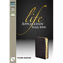 NASB, Life Application Study Bible, Bonded Leather, Black, Indexed