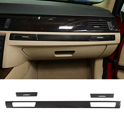 CHEYA ABS Carbon Fiber Dashboard Cup Holder Decoration Strips Trim Stickers 3pc for BMW 3 Series E90 2005-2012 Car Accessoires from CHEYA