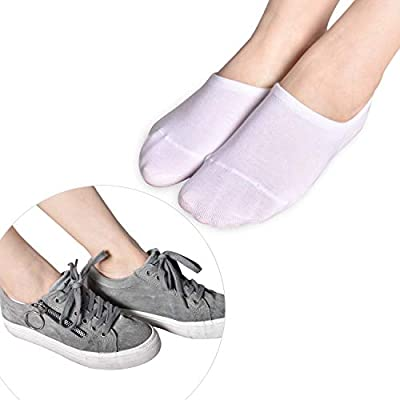 No Show Socks for Women, 3/6/9/15 Pairs Cotton Liner Socks Invisible Non Slip Flat Boat Line Socks at Women's Clothing store