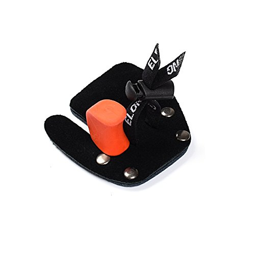 - Huanggui Archery Finger Tab Cow Leather Shooting Tab for Recurve Bow Right Hand Color Black Belt (Pack of 1)