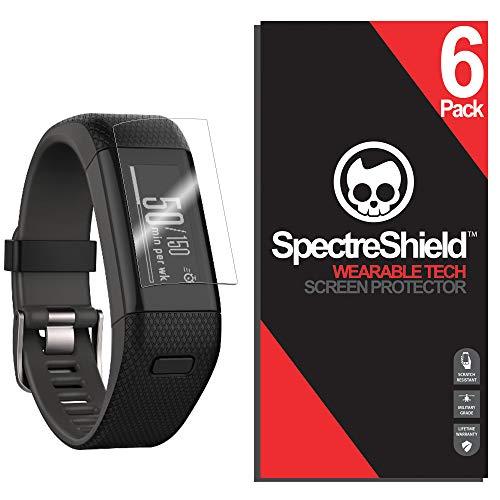 (6 Pack) Spectre Shield for Garmin Vivosmart HR Plus Screen Protector Accessory Screen Protector for Garmin Vivosmart HR Plus Case Friendly Full Coverage Clear Film