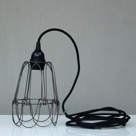 Iron wire lampshade black amazon kitchen home iron wire lampshade black greentooth Choice Image