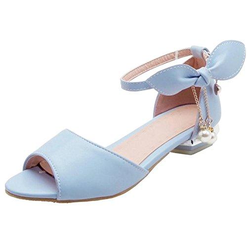 Toe Sandales Peep Mode Blue Femmes JOJONUNU TA1FnaWq
