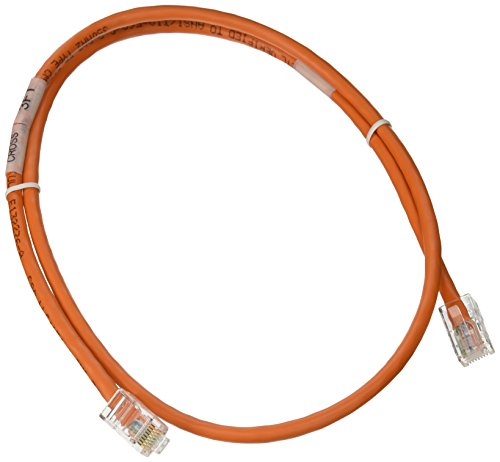 C2G 24494 Cat5e Crossover Cable - Non-Booted Unshielded Network Patch Cable, Orange (3 Feet, 0.91 Meters) ()