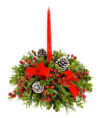 Christmas Flowers - Merry Christmas Centerpiece by christmas flowers