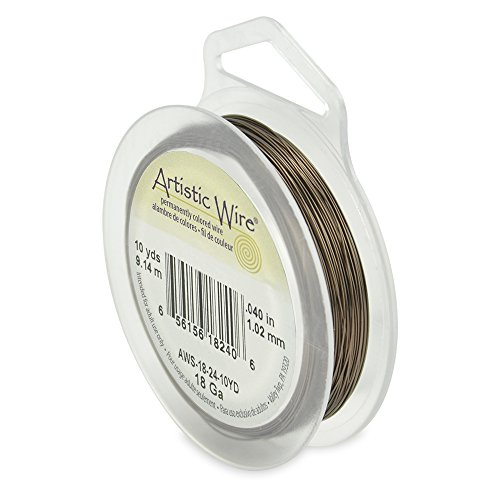 Artistic Wire 18-Gauge Antique Brass Wire, 10-Yards