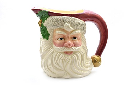 Fitz and Floyd 1993 Santa Claus 2 Quart Pitcher (Santa Claus Pitcher)