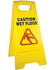 """لوحة تحذيرية بكتابة """"Caution WET FLOOR"""" قابلة للطي"""