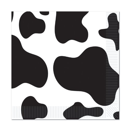 (Cow Print Luncheon Napkins (2-Ply)   )