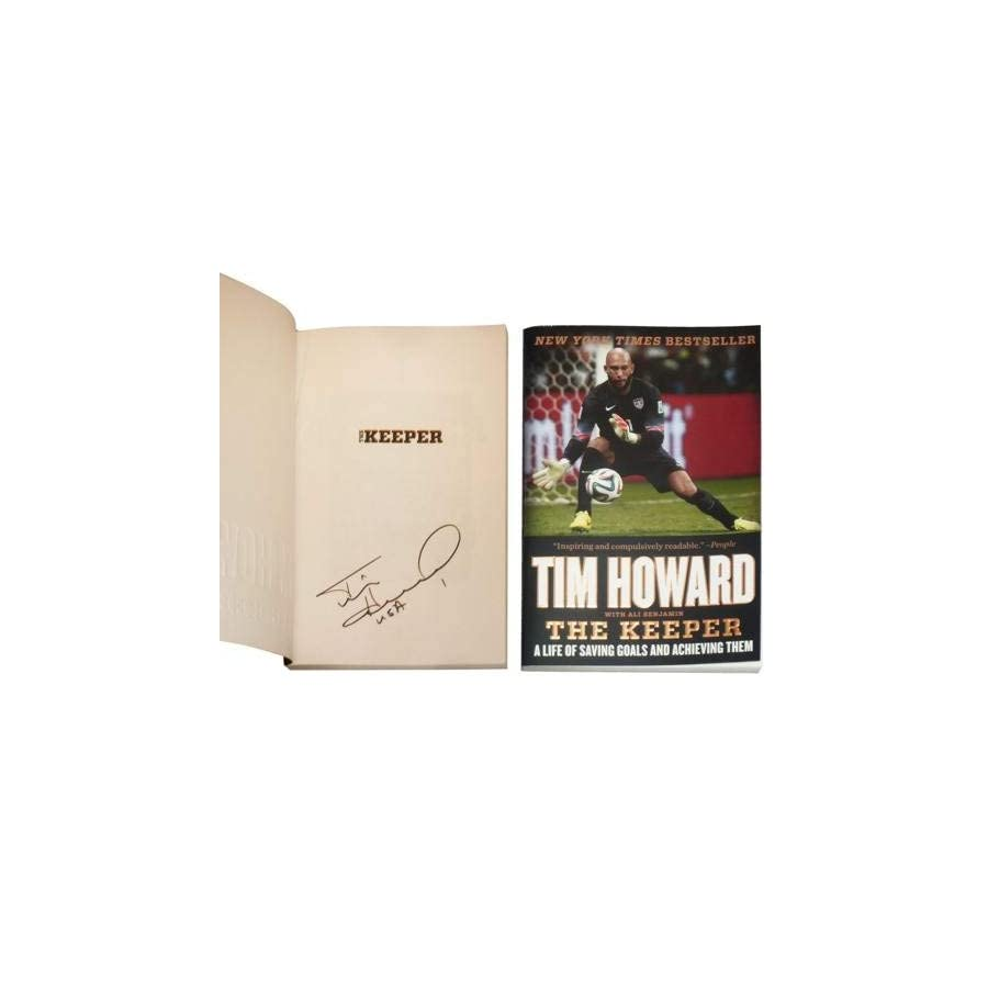 Tim Howard Autographed Signed Auto Book The Keeper USA Certified Authentic