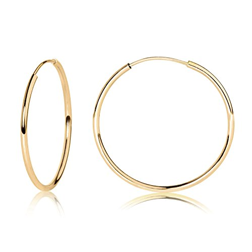 14k Yellow Gold Endless Hoop Earrings 20mm 41925 by Olivia and Ava Collection