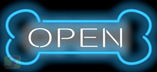 Dog Bone Open Neon Sign by Jantec Sign Group