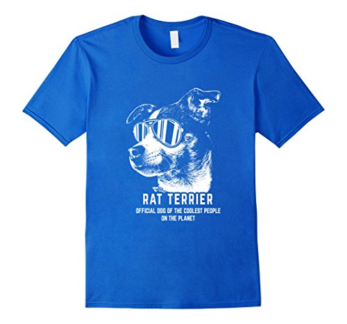 Mens Rat Terrier Shirt Official Dog of the Coolest People XL Royal Blue (Club Terrier)