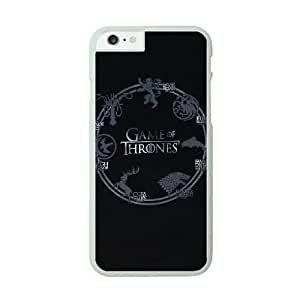 iPhone 6 Plus White Cell Phone Case Game of Thrones Logo TGKG596608