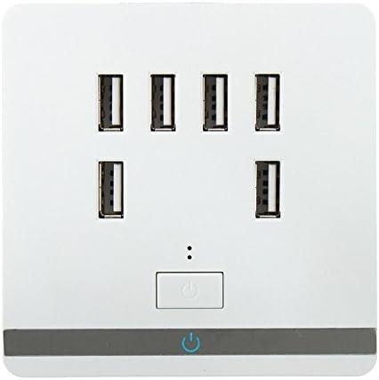 6 USB Steckdose Wandsteckdose Unterputz Anschluss Ladegerät Charger AC 3.4A NEU