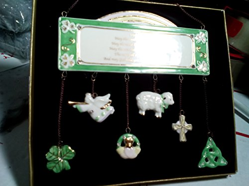 Irish Blessing China With Rhinestones Wind Chimes One piece For Sale