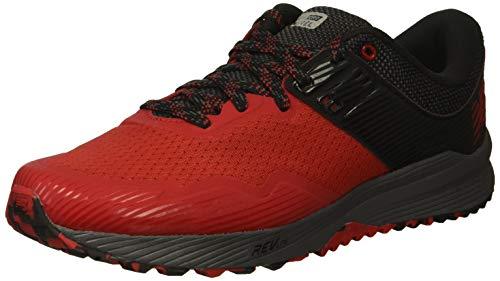 New Balance Men's Nitrel V2 FuelCore Trail Running Shoe, Team red/Black/Magnet, 11.5 4E US