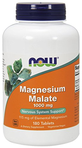 NOW Foods Magnesium Malate, 180 Tablets / 1000mg