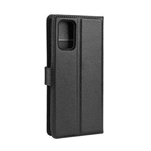 ROVLAK Custodia per Samsung Galaxy S20 Fe 5G Case Portafoglio Flip Cover con Slot per Schede Custodia in Pelle Antiurto PU+Case in Silicone TPU Interna per Samsung Galaxy S20 Fe 5G Cover,Nero