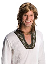 Rubies Costume Rubie's Costume 70s Guy Wig, Brown, One Size