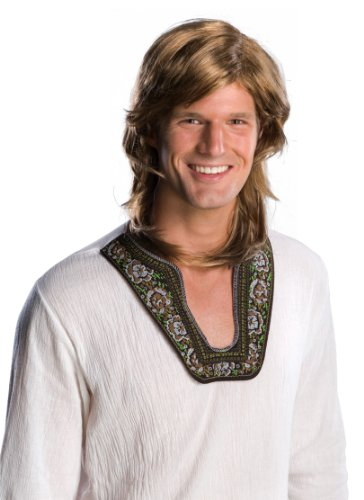 Rubie's 70's Guy Wig, Brown, One Size