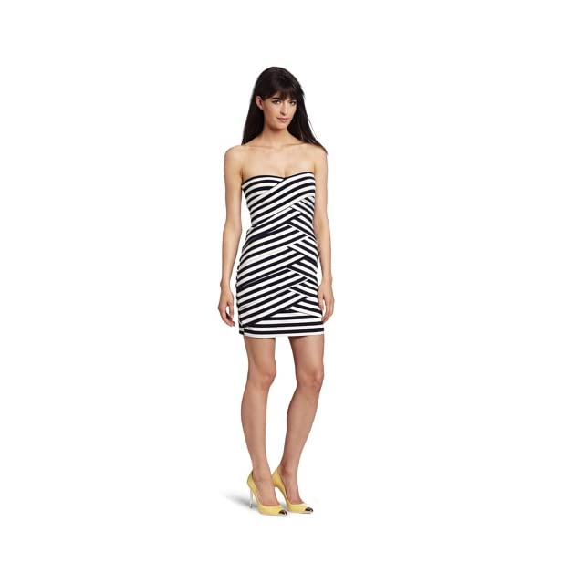 Nicole Miller Womens Strapless Dress
