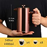 ERAVSOW French Press Coffee Maker, Double Walled