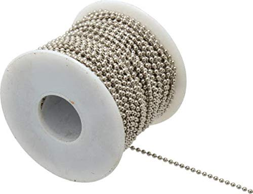 (Made in USA - Number 3 Trade Size Brass Ball Chain 100 Foot Roll)