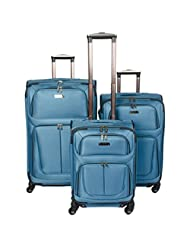 Kenneth Cole Reaction Wayfarer 3-pc. Softside Luggage Set, Kenneth Cole Reaction Wayfarer Suitcase Set (Aqua)