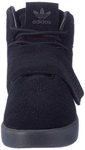adidas Tubular Invader Strap, Zapatillas Altas Unisex Niños, Negro Negro (Core Black/core Black/utility Black)