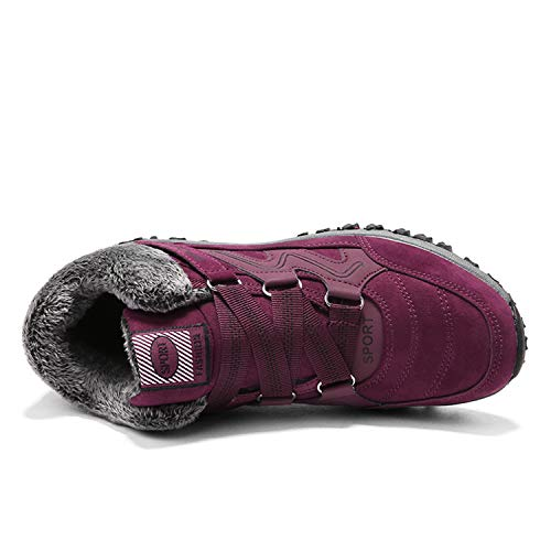 Imperméable Bottes Fourrure Randonnée Baskets Bottines De Outdoor A Tqgold Boots Hiver Neige Homme Chaussures Trekking Femme rouge wAnBI8Rq