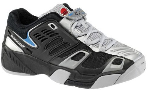 Babolat Propulse JR Boys Tennis Shoes Silver//Black//Blue Size 2.5