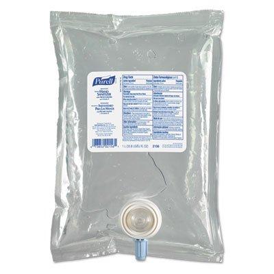 PURELL 215608CT Hand Sanitizer Refill, f/NXT Dispenser, 1L, 8/CT, Original