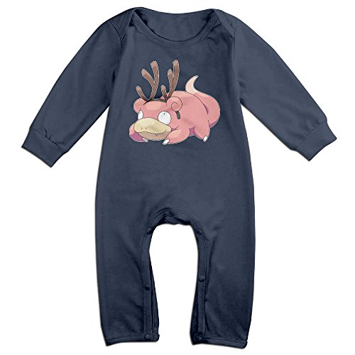 Price comparison product image Pokemon Go Slowpoke Baby Personality Climbing Clothes Infant Rompers Navy