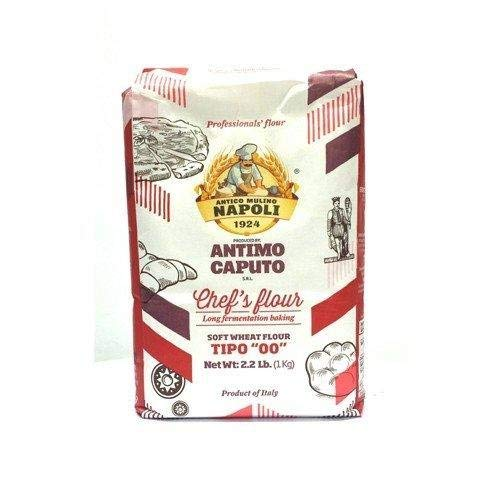 Antimo Caputo 00'' Chefs Flour 1 Kilo (2.2 Pounds) Bags Pack of 4-2 Pack (8 Count)