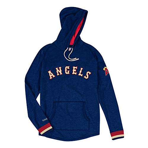 Mitchell & Ness California Angels MLB Men's Leader Lightweight Hooded Shirt (Mlb Angels Sweatshirt)