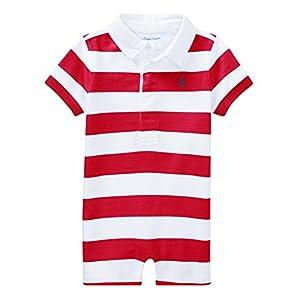 Ralph Lauren Baby Boys Striped Cotton Rugby Shortall – – 9 Months