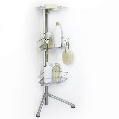 OXO Good Grips Stainless Steel Corner Standing Shower Caddy, Multi - Buy Online In UAE.