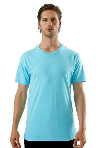 Cotton Heritage Fashion Crew T Shirt  Pacific Blue