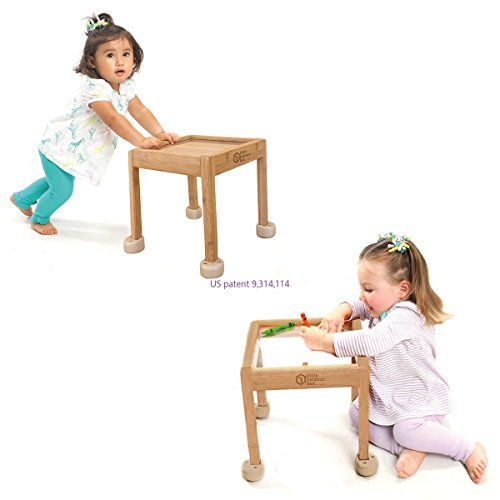 Little Balance Box 2-in-1: No Wheels Spring Feet, Girl Boy Best Baby Walker Push Stand Toys, Toddler Activity Table, Award Winning