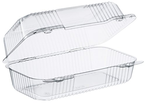 Dart C35UT1 9 in Med Oblong Clear Hinged Container, 9.0 X 5.4 in (Case of 250)
