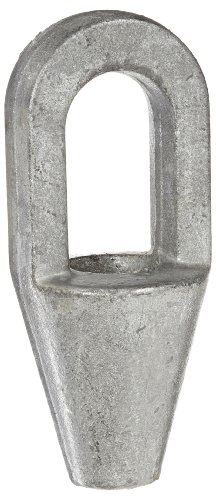 Indusco 78700016 Hot Dipped Drop Forged Galvanized Steel Closed Spelter Socket, 9/16-5/8 Trade, 6.31
