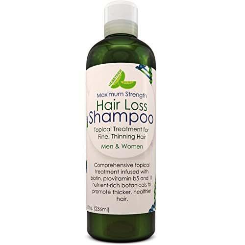Anti-Hair Loss Shampoo Hair Loss Fighting Formula Natural Treatment Regrow Hair Anti-Dandruff Anti-Breakage Active Ingredients Rosemary Biotin Zinc Evening Primrose For Women and Men
