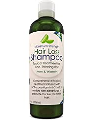 Anti Hair Loss Shampoo for Men and Women – Natural Biotin for Hair Growth – Anti Dandruff Sulfate Free Keratin Care for Thinning Fine Hair and Sensitive Scalp – Pure Jojoba Oil for Thick Hair Regrowth