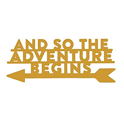 Amazon.com: \'AND SO THE ADVENTURE BEGINS\' Wood Sign Home Décor Wall ...