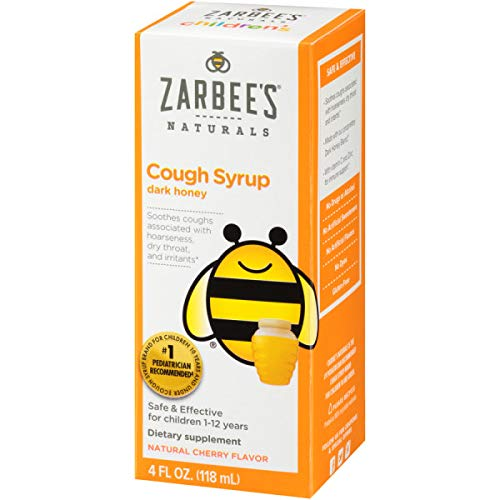 Cherry Syrup Childrens (Zarbee's Naturals Children's Cough Syrup with Dark Honey, Natural Cherry Flavor, 4 Ounce Bottle)