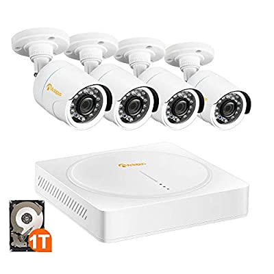 Anlapus HD-TVI 720P 1280TVL CCTV Security Bullet Camera, 24PCS LEDS with IR Cut 65Feet Night Vision Outdoor Indoor Weatherproof Surveillance HD Camera for 720P/1080P HD-TVI DVR Recorder … by Nine Star Security & Technology Inc.