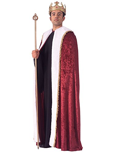 (Rubie's Burgundy Velvet King's Cape, Burgundy, One Size )