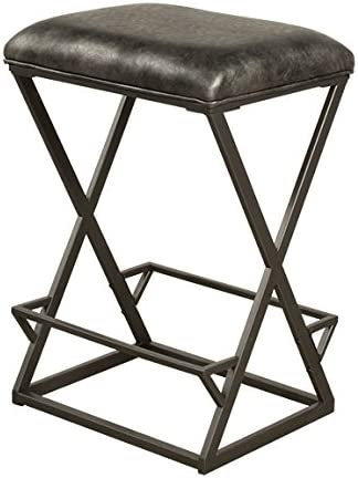 Hillsdale Furniture Kenwell Bar stool Height, Charcoal